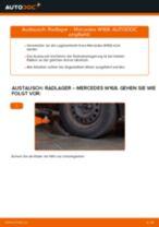Wie Radlagersatz MERCEDES-BENZ A-CLASS auswechseln und einstellen: PDF-Anleitung
