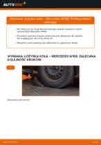 Jak zmienić Łożysko zestaw naprawczy piasty MERCEDES-BENZ A-CLASS: darmowy pdf