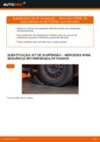 Como mudar kit de suspensão da parte dianteira em Mercedes W168 gasolina - guia de substituição
