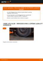 Hogyan cseréje és állítsuk be Gólyaláb MERCEDES-BENZ A-CLASS: pdf útmutató