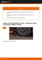 Mainīties MERCEDES-BENZ A-CLASS (W168) Riteņa rumbas gultnis - soli-pa-solim pamācības PDF
