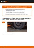 Comment changer : jambe de suspension avant sur Mercedes W168 essence - Guide de remplacement