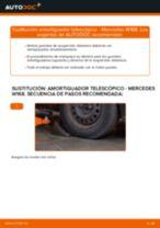 Cómo cambiar: amortiguador telescópico de la parte delantera - Mercedes W168 gasolina   Guía de sustitución