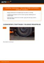 Hvordan bytte og justere Fjærbein MERCEDES-BENZ A-CLASS: pdf håndbøker