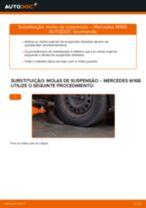 Como mudar molas de suspensão da parte dianteira em Mercedes W168 gasolina - guia de substituição