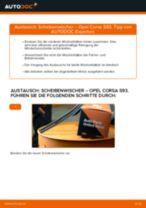 Wie Opel Corsa S93 Scheibenwischer vorne wechseln - Schritt für Schritt Anleitung