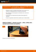 Comment changer : essuie-glaces avant sur Opel Corsa S93 - Guide de remplacement