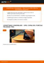 Udskift viskerblade for - Opel Corsa S93 | Brugeranvisning