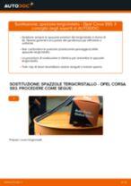 Come cambiare spazzole tergicristallo della parte anteriore su Opel Corsa S93 - Guida alla sostituzione
