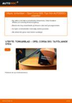 Byta torkarblad fram på Opel Corsa S93 – utbytesguide
