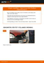Byta kupéfilter på Opel Corsa S93 – utbytesguide