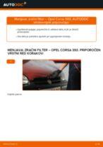 Kako zamenjati avtodel zračni filter na avtu Opel Corsa S93 – vodnik menjave