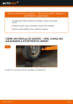 Autószerelői ajánlások - OPEL Opel Corsa S93 1.2 i 16V (F08, F68, M68) Fékbetét csere