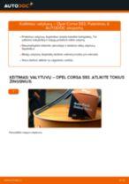 Pakeisti Valytuvo gumelė OPEL CORSA: instrukcija