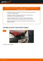 Kaip pakeisti Opel Corsa S93 salono filtro - keitimo instrukcija