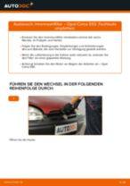 OPEL CORSA B (73_, 78_, 79_) Kennzeichenleuchten Glühlampe wechseln Anleitung pdf