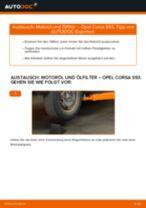 Einbau von Motorölfilter beim OPEL CORSA B (73_, 78_, 79_) - Schritt für Schritt Anweisung