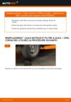 Comment changer : huile moteur et filtre huile sur Opel Corsa S93 - Guide de remplacement