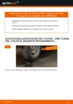 Cambio Filtro de aceite motor OPEL bricolaje - manual pdf en línea