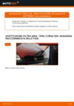 Come cambiare Filtro dell'aria OPEL CORSA B (73_, 78_, 79_) - manuale online