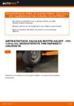 Πώς να αλλάξετε λαδια και φιλτρα λαδιου σε Opel Corsa S93 - Οδηγίες αντικατάστασης