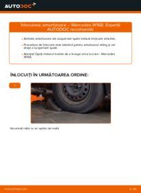 Cum să efectuați înlocuirea: Amortizor la A 140 1.4 (168.031, 168.131) Mercedes W168