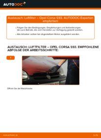 Wie der Wechsel durchführt wird: Luftfilter 1.0 i 12V (F08, F68, M68) Opel Corsa S93 tauschen