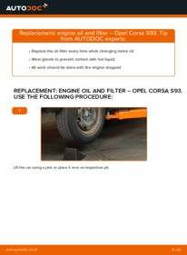 How to carry out replacement: Oil Filter on 1.0 i 12V (F08, F68, M68) Opel Corsa S93
