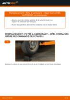 Comment changer : filtre à carburant sur Opel Corsa S93 - Guide de remplacement