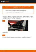 Ako vymeniť zapaľovacie sviečky na Opel Corsa S93 – návod na výmenu