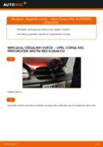Kako zamenjati avtodel vžigalne svečke na avtu Opel Corsa S93 – vodnik menjave