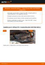 Kako zamenjati avtodel zavorni diski spredaj na avtu Opel Corsa S93 – vodnik menjave