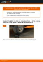 Como mudar filtro de combustível em Opel Corsa S93 - guia de substituição
