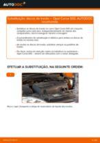 Como mudar discos de travão da parte dianteira em Opel Corsa S93 - guia de substituição