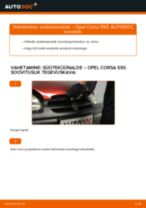 Kuidas vahetada ja reguleerida Süüteküünal OPEL CORSA: pdf juhend