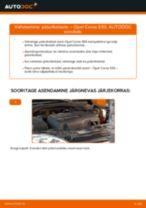 Automehaaniku soovitused, selleks et vahetada välja OPEL Opel Corsa S93 1.2 i 16V (F08, F68, M68) Piduriklotside komplekt