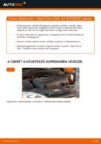 Elülső féktárcsák-csere Opel Corsa S93 gépkocsin – Útmutató