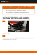 Wie Zündkerzensatz OPEL CORSA tauschen und einstellen: PDF-Tutorial