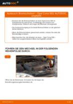 Wie Opel Corsa S93 Bremsscheiben vorne wechseln - Anleitung