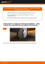 Hoe stabilisatorstang rubbers vooraan vervangen bij een Opel Corsa S93 – Leidraad voor bij het vervangen