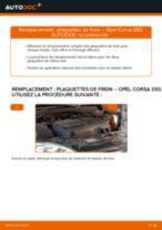 Comment changer et régler Kit de plaquettes de frein OPEL CORSA : tutoriel pdf