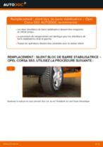 Comment changer : silent bloc de barre stabilisatrice avant sur Opel Corsa S93 - Guide de remplacement
