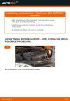 Udskift bremseklodser for - Opel Corsa S93 | Brugeranvisning