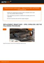Online manual on changing Brake caliper yourself on OPEL CORSA B (73_, 78_, 79_)