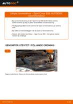 Byta bromsskivor fram på Opel Corsa S93 – utbytesguide