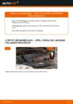Byta bromsbelägg fram på Opel Corsa S93 – utbytesguide