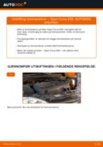 Hvordan bytte Bremseskiver bak og foran OPEL CORSA B (73_, 78_, 79_) - guide online