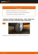 Výmena Gumy stabilizátora OPEL CORSA: online návod