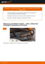 Kako zamenjati avtodel zavorne ploščice spredaj na avtu Opel Corsa S93 – vodnik menjave