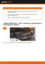 Elülső fékbetétek-csere Opel Corsa S93 gépkocsin – Útmutató